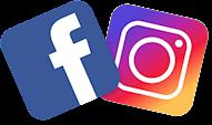Facebooks och instagrams logga bredvid varandra