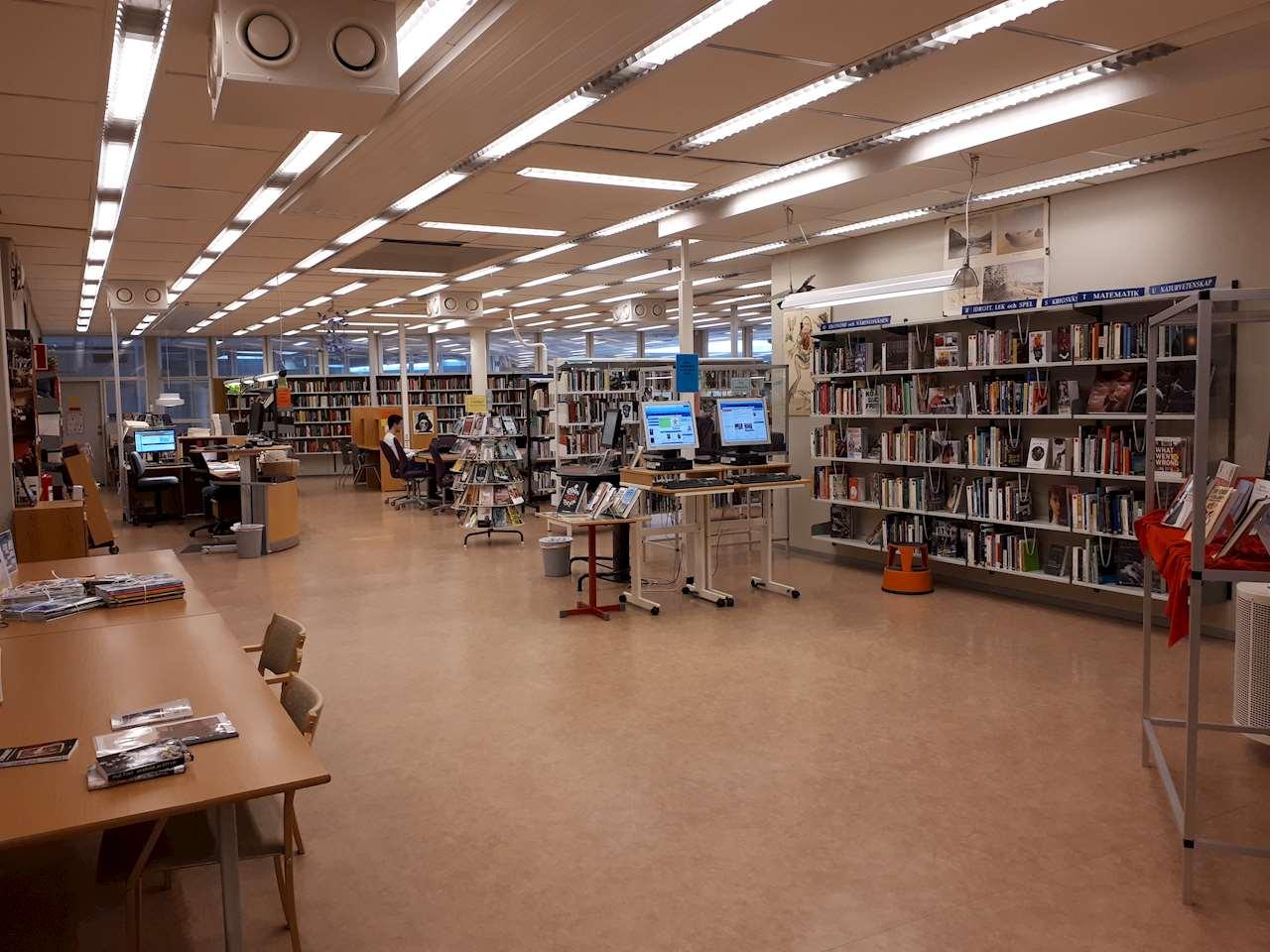 Biblioteket på Tannbergsskolan