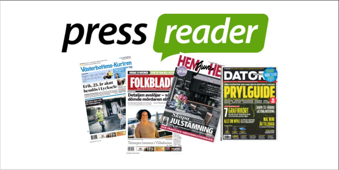 Läs din tidning online i Pressreader. Klicka och läs mer!