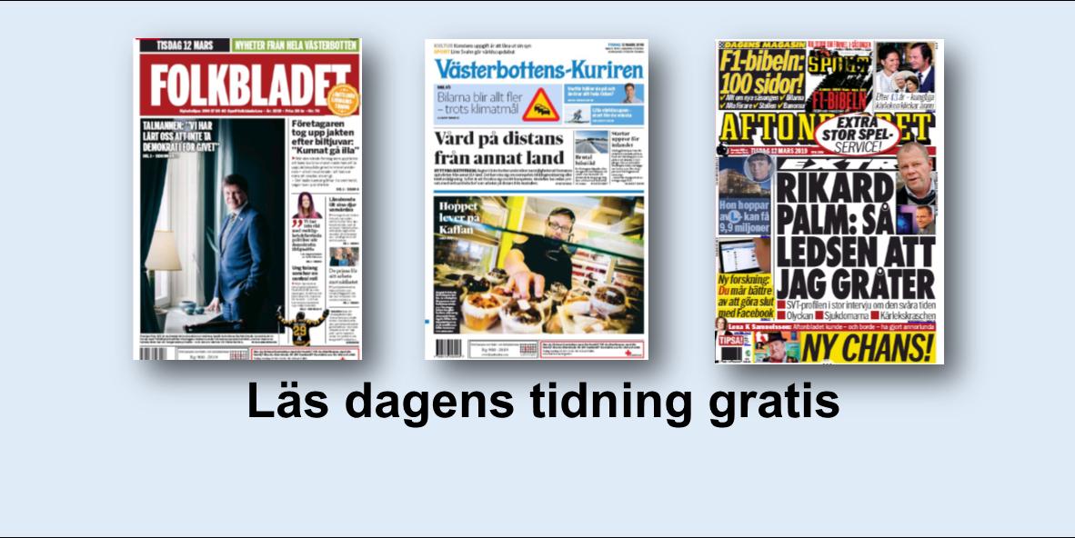 Folkbladet, Västerbottens-Kuriren och Aftonbladet