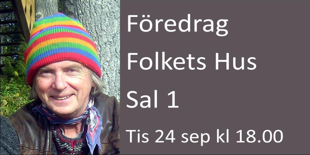 Gunnar Westrin håller föredrag 24 september